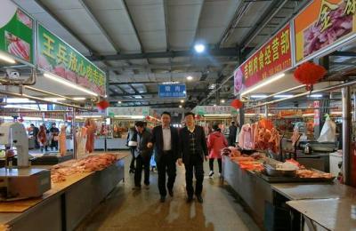 城阳区政府副区长李玉海莅临城阳批发市场视察指导打造旅游购物市场工作