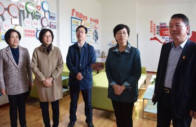 青岛市人大常委会副主任、市总工会主席刘圣珍莅临城阳批发市场视察调研工会工作开展情况